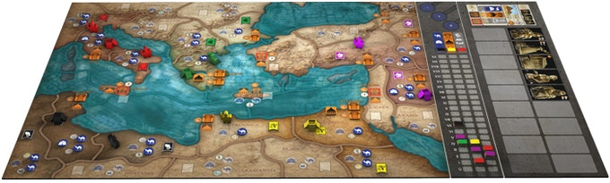 Game Board with KS expansion Leadership Board and Heroes & Wonders Board
