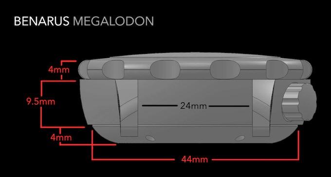 Benarus Megalodon, lug view