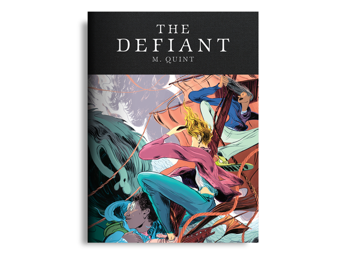 """For $55: """"The Defiant"""" bundle, with our forthcoming book by M. Quint with illustrations by Lily Padula. Plus our tote and digital bundle."""