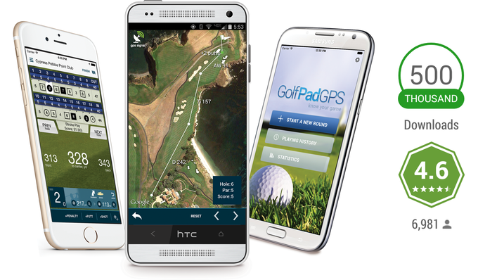 Golf Pad comes with GPS rangefinder, aerial maps and rich statistics