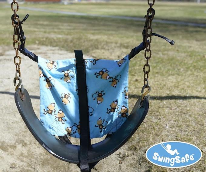 The SwingSafe - Mounted On A Swing