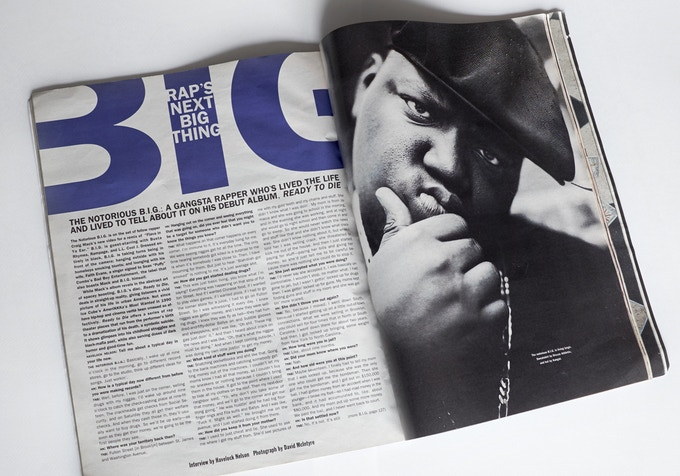 The Notorious BIG in Interview magazine. The only image from the shoot that has ever been seen.