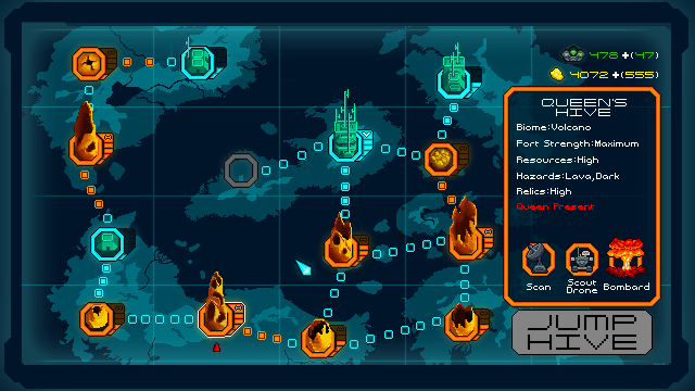 Planetary map screen. Fight hive-by-hive to reclaim the planet for humanity!