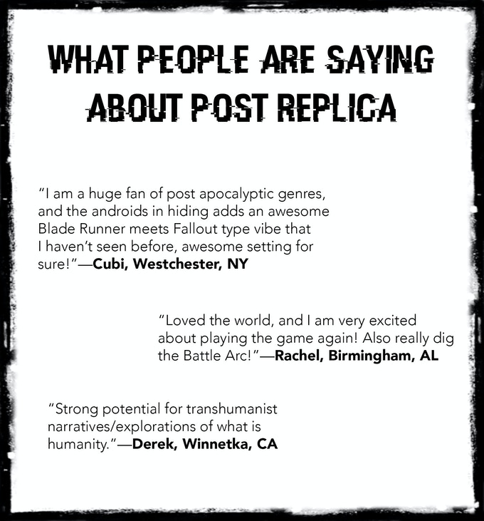 Post Replica - the 1st Tablet-Top Roleplaying Game by
