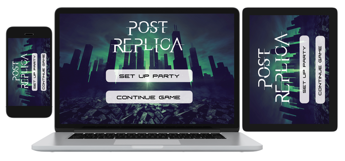You can play Post Replica using any device, and enjoy the shared world to add to the richness of your tabletop play!