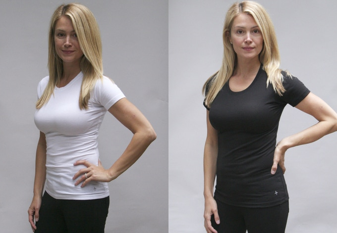 Women's Pure White and Jet Black Base Layer T shirts