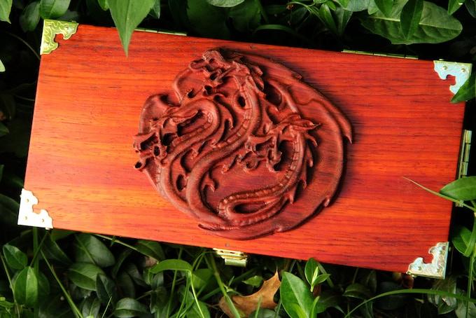 Premium Padauk wood, Hydra wood sculpt
