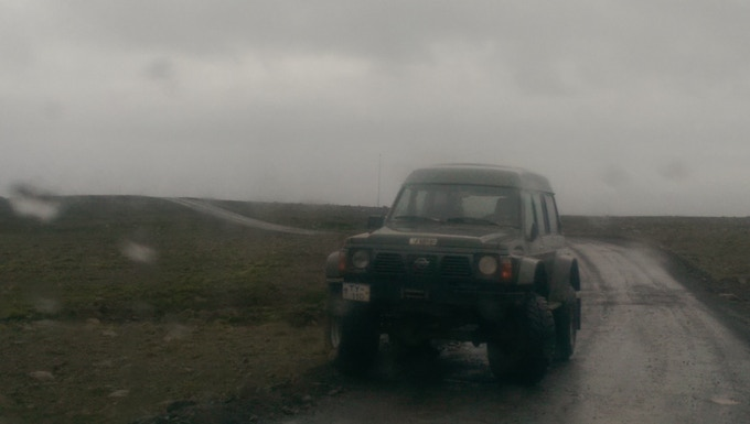"""Our """"devastator"""" giving up on us on our way back to Reykjavik because of a broken axle."""