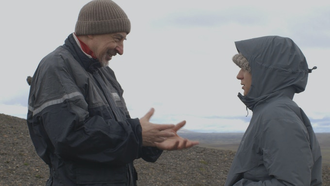 Giancarlo & Sofia on location in Iceland