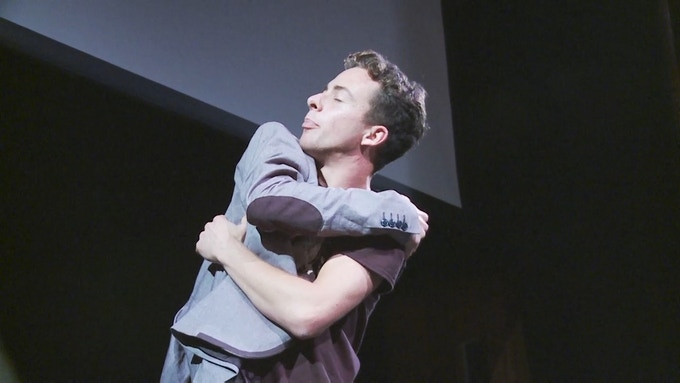 Me hugging my 'dad' in the R&D showing last year