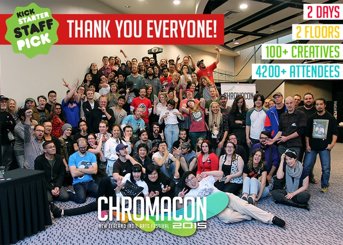 Chromacon is a free New Zealand Arts Festival that showcases illustrations, comics, animations, videogames & more from indie creatives.