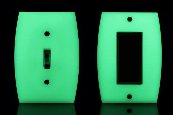 LUMINNO GlowaSwitch Toggle (Model ST1G) and Rocker (Model DRIG)