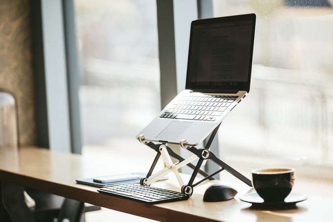 The Roost Laptop Stand - On the Road