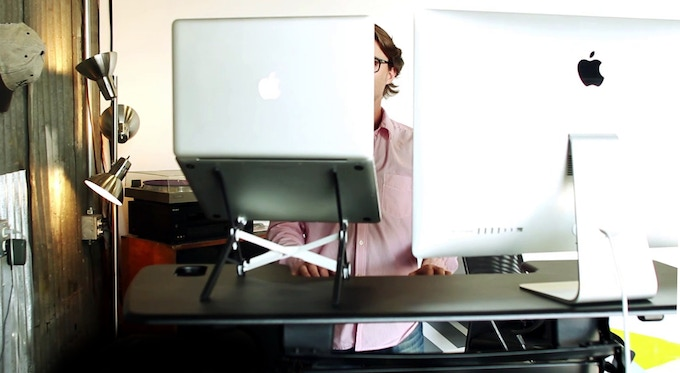The Roost Laptop Stand - In the Office - Standing Desk