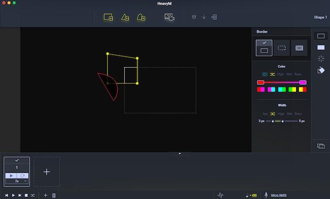 Interface of HeavyM V1