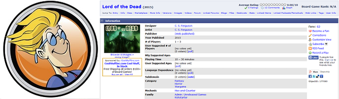 Check out Lord of the Dead on Board Game Geek and join the converstations!