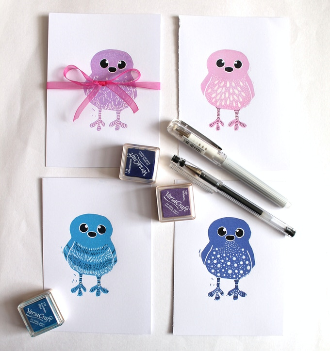 Examples of Single Original Doodle Birds for the Doodle Bird Pledge