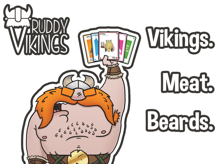 Vikings. Meat. Beards. Fun for all ages in this epic new strategic card game. Dodge boulders and lead your Vikings to glorious victory.