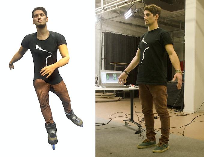 On a Roll game avatar of Seba Pro rider Antony Pottier; generated from 3D scan + mocap data