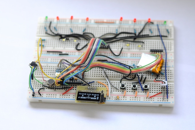 Breadboard prototype with OLED display. (ATmega328)