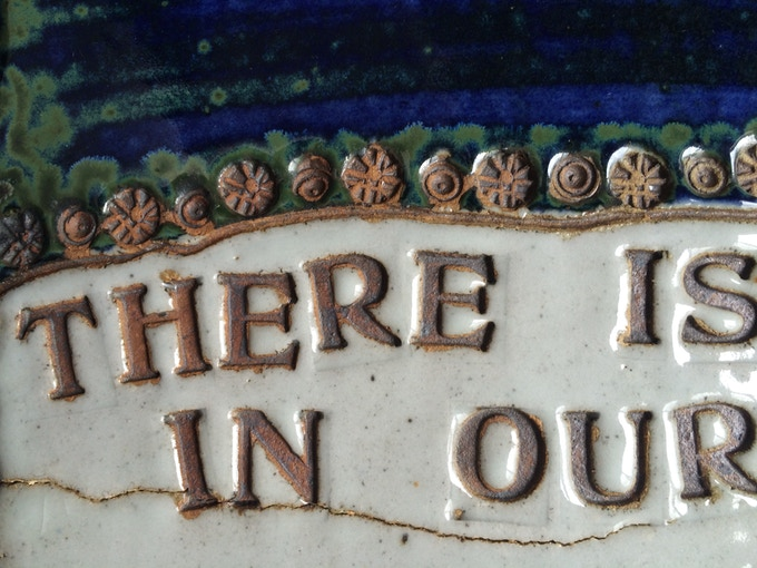 example of letterpress on ceramic