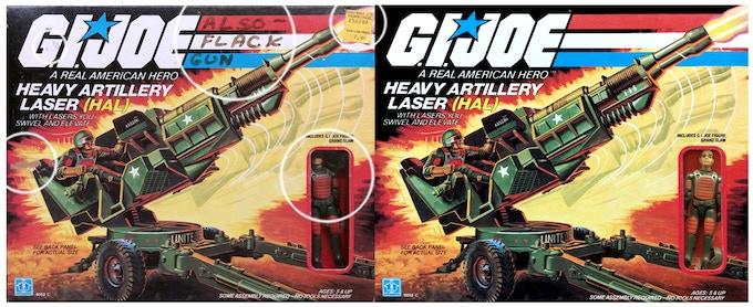 1982 HAL (Heavy Artillery Laser) before and after digital photo restoration