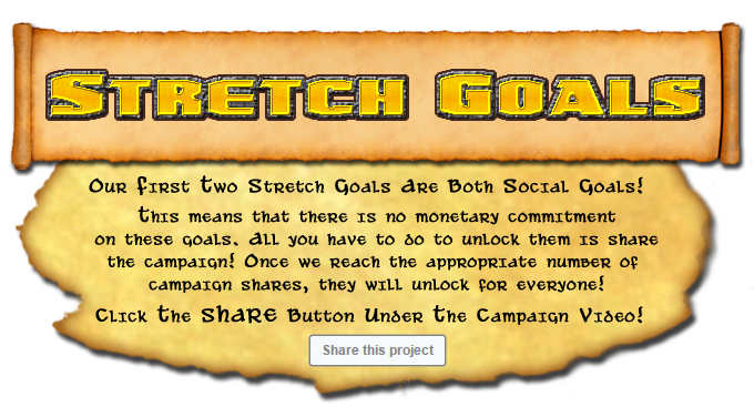 Click the share button under the campaign video to help unlock our social stretch goals!
