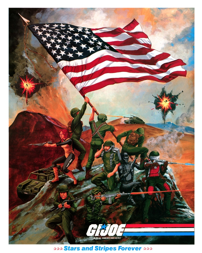 """""""Stars and Stripes Forever"""" poster by Ron Rudat, limited to 100 copies and only available through this campaign!"""