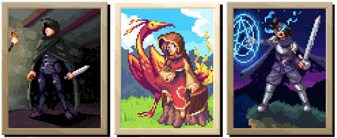 The assassin, summoner, and enchanter. Attack from the shadows, conjure divine beasts to aid you, or protect yourself and allies with rune-charged spellcasting!