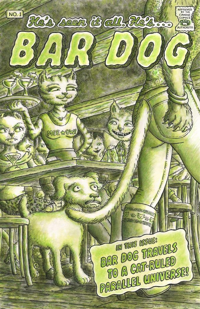 Cover of the Kickstarter-Exclusive Bar Dog Comic Book
