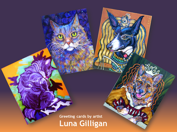 Greeting cards by Luna Gilliagan