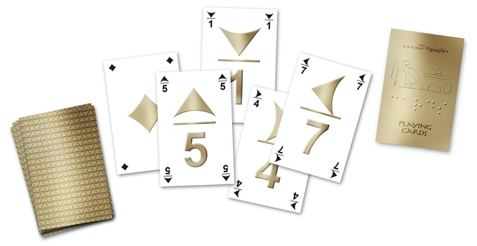 Photoshop-drawing of the cards for blind and non-blind players.