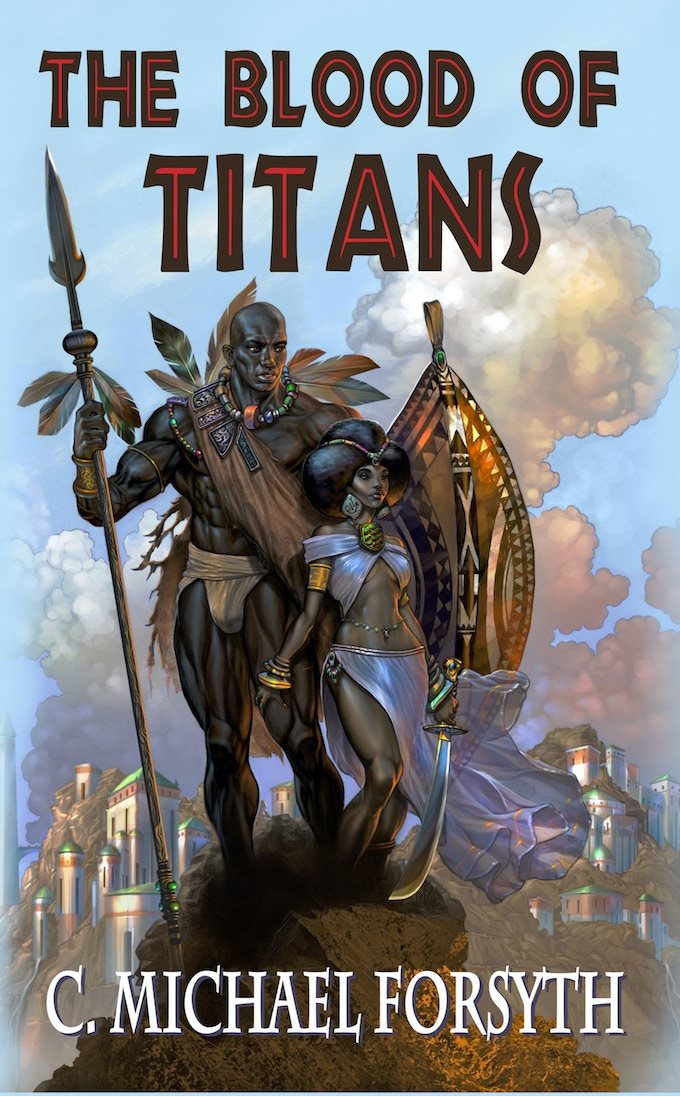 """The eBook and print editions of """"The Blood of Titans"""" are among the many rewards"""