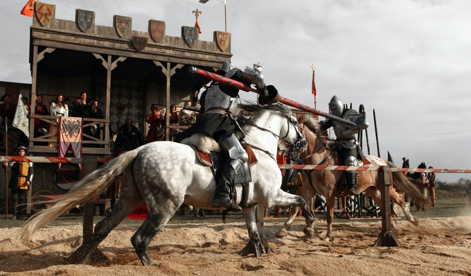 A ceremonial joust (or celebration tournament) takes place among the Orders of Chivalry.