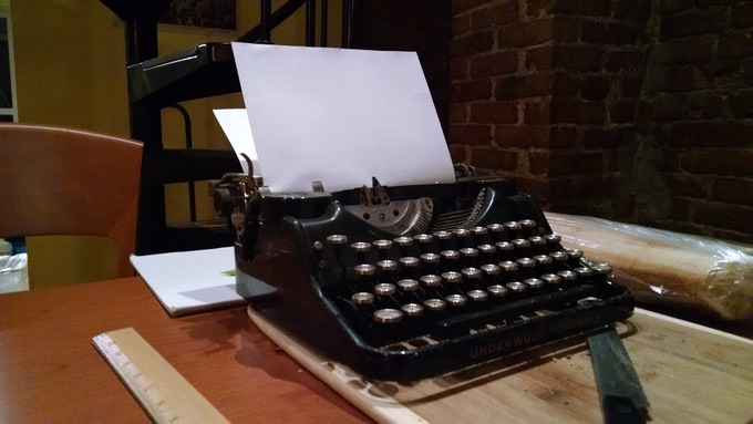 Our model typewriter could be yours!