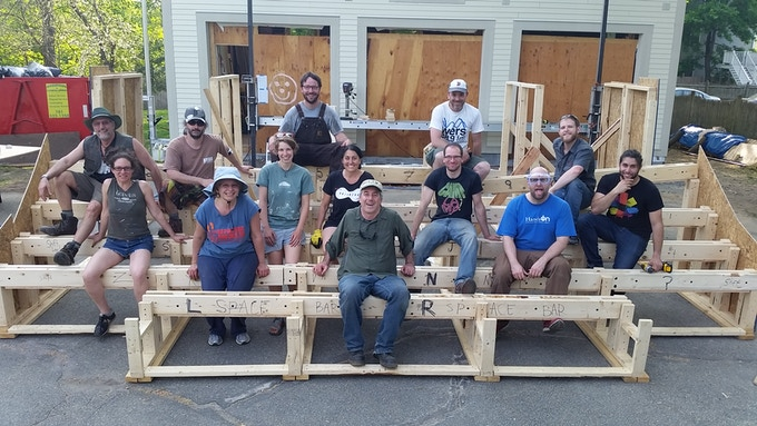 Our crew at the end of our first build weekend