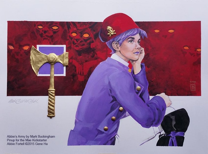 LOCKED: Abbie painting by Mark Buckingham
