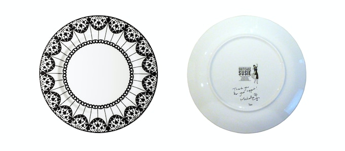 Signed, limited edition 20cm Paper Kite plate