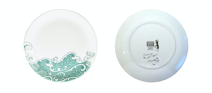 Signed, limited edition 20cm Koru plate