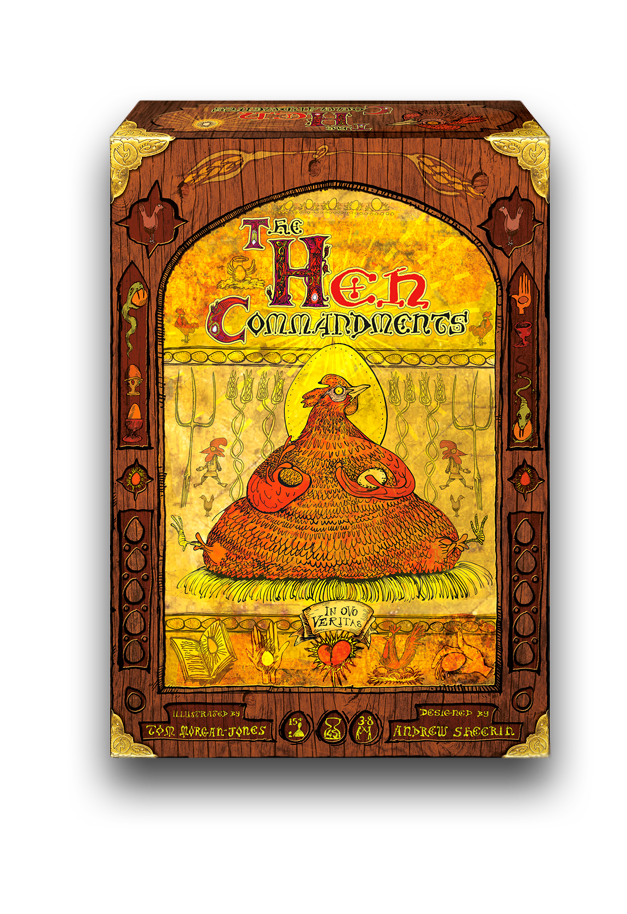 The Hen Commandments is the new chicken-based, religion-building party game from the makers of Crunch and War on Terror: The Boardgame. If you missed out, you can order the game from terrorbullgames.co.uk
