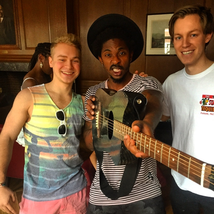 KLOS guitar with Shwayze