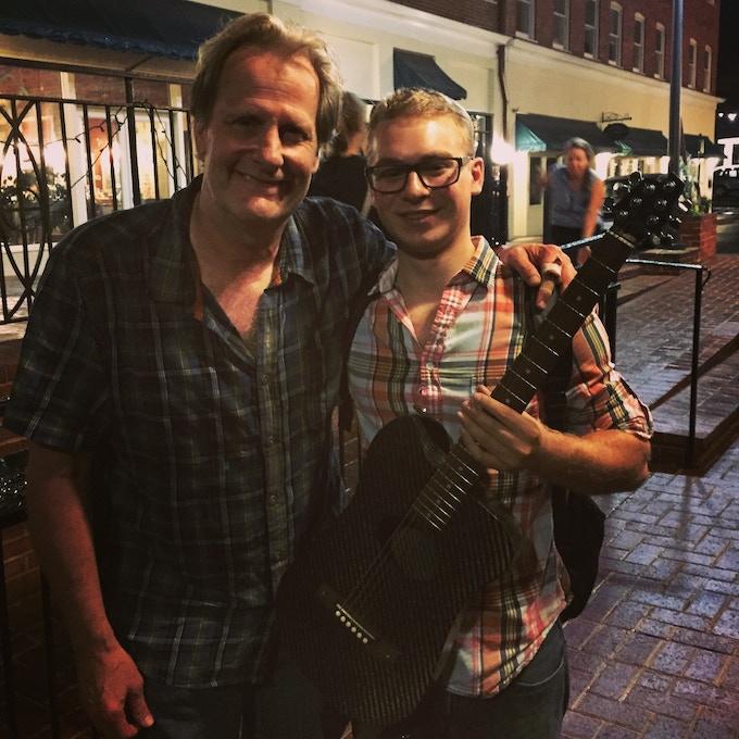 KLOS guitar with Jeff Daniels