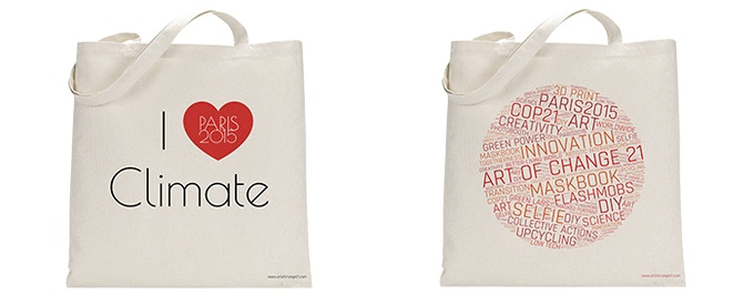 Take your love of climate with you, tote bag  (50 Euros pledge)