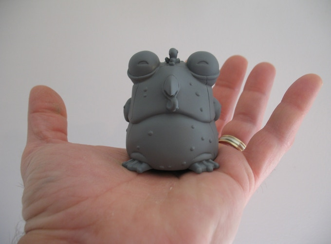 Miniature vinyl Chog prototype