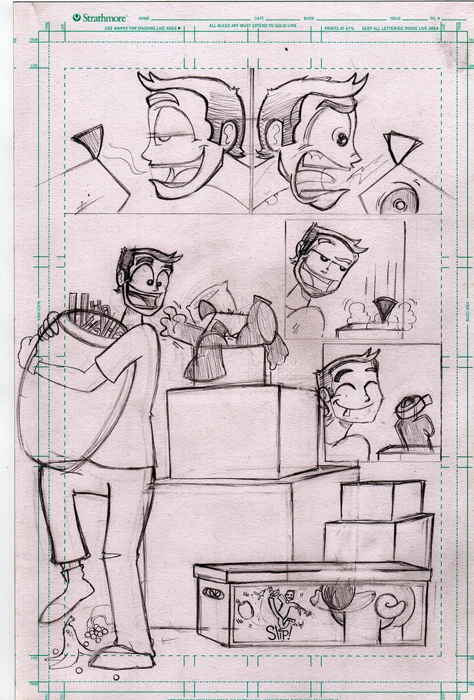 Pissed ØFF Pencils of issue #1 page Ø2