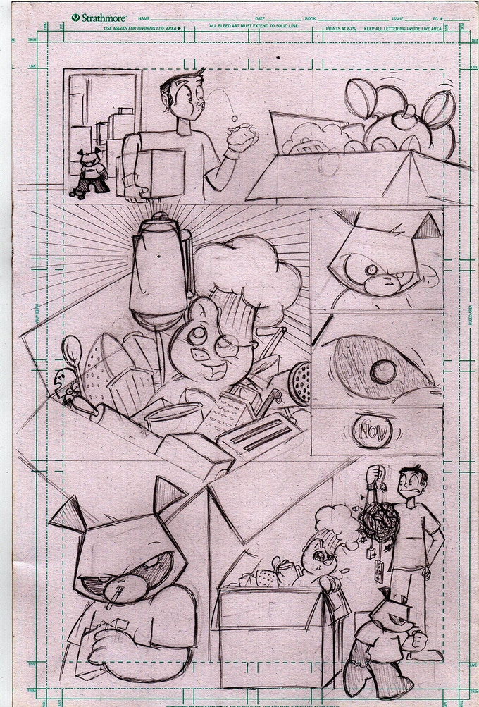 Pissed ØFF Pencils of issue #1 page Ø4