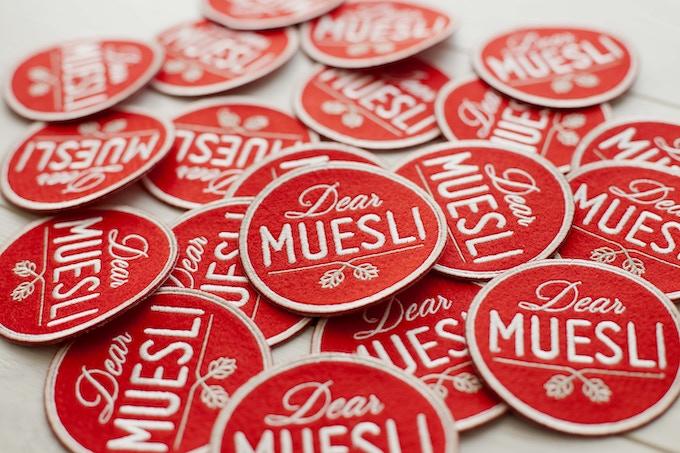 Les patches Dear Muesli à mettre sur ton sac à dos.