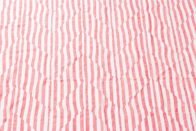 Nic Blanket close up stitch pleating