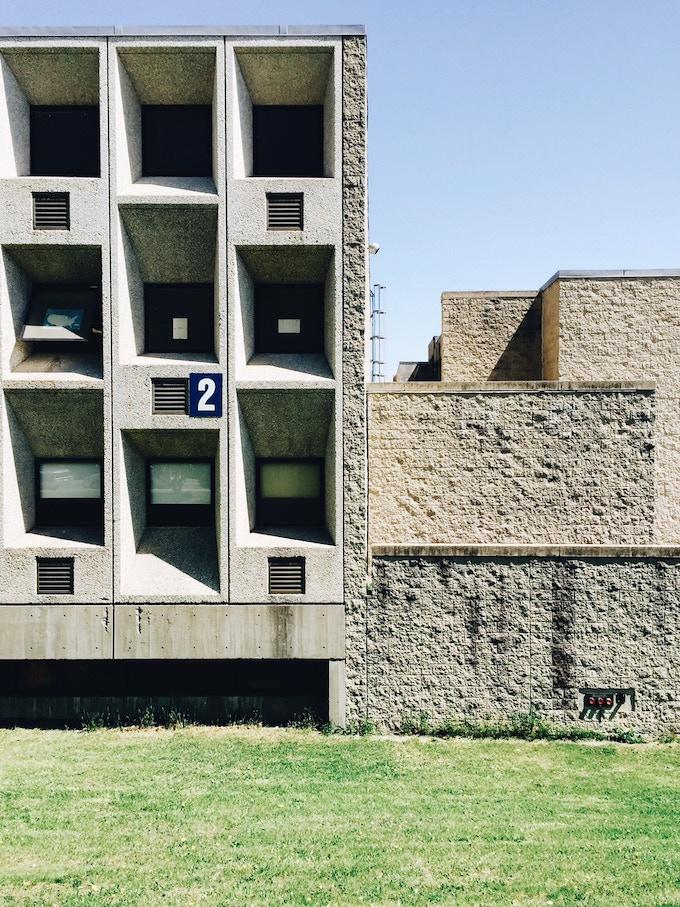 Madison Park High School, Marcel Breuer & Associates, 1967–77.