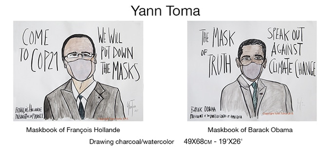 Yann Toma'original drawing, a creation for MASKBOOK ! (1,500 Euros pledge)